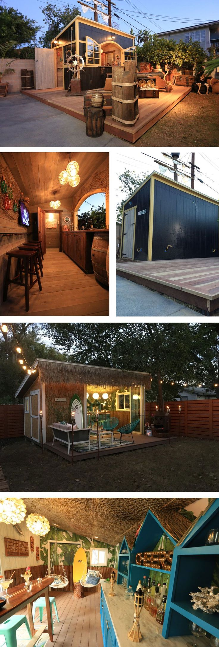 Turn a tuff shed into a bar or hangout for your backyard
