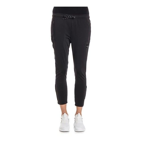 ADIDAS ORIGINALS Eqt Cigarette Trousers ($77) ❤ liked on Polyvore featuring pants, white trousers, zip pants, white cigarette pants, white cigarette trousers and zip pocket pants