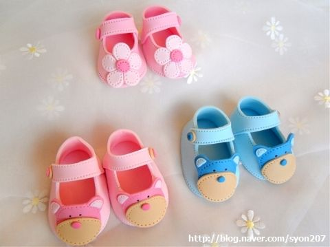 how to make fondant baby shoes with template :)