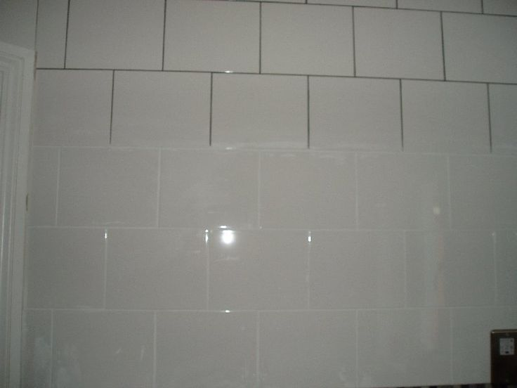 White Tiles With Grout Color Recoloured Grout From Grey