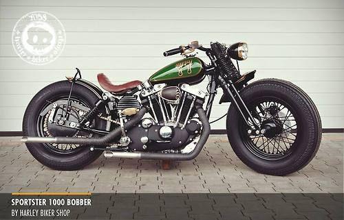 Sportster 1000 bobberby Harley biker shop | Bobber Inspiration - Bobbers and Custom Motorcycles November 2014