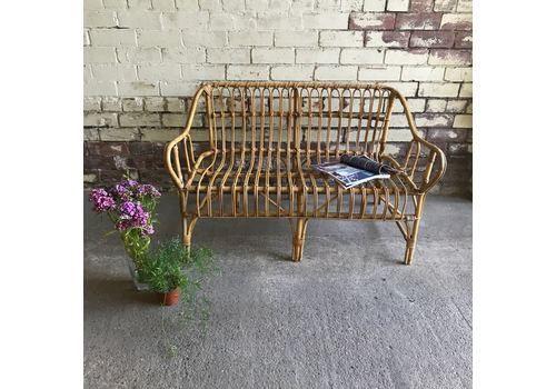 Fantastic Mid Century Vintage Boho Rattan Bamboo Love Seat Bench Machost Co Dining Chair Design Ideas Machostcouk