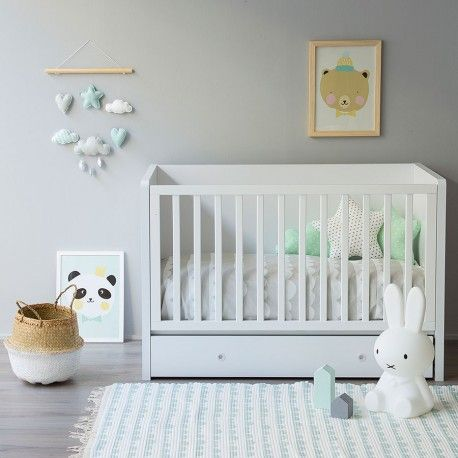Moon alfombra menta habitaci n bebe menta gris chambre - Alfombras habitacion bebe ...