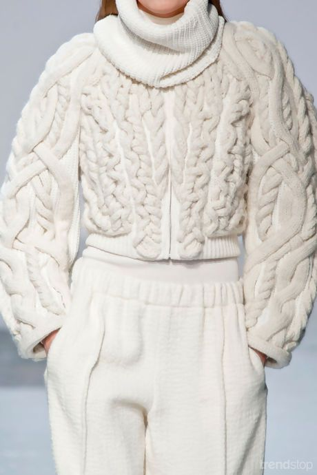 """Barbara Bui Fall Winter 2014-15 applied """"cables"""""""