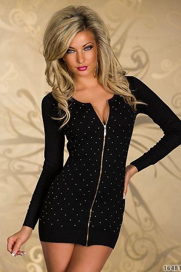 Rochie LovelyZipper Black  >> Click pe poza pentru a vedea pretul. #rochii #rochiideseara #fashion #dress #rochiideocazie