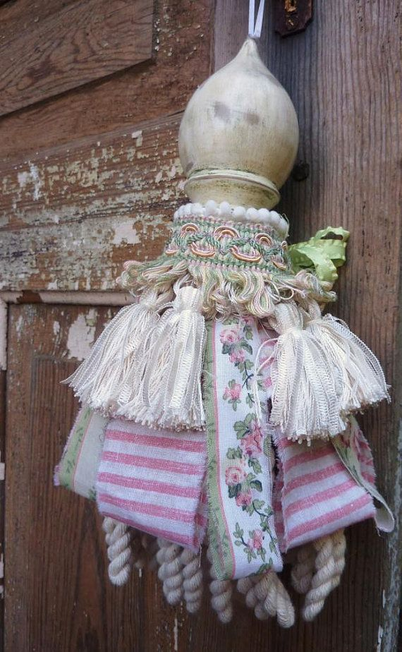 Decorative Tassel  Cottage Chic Decor  Shabby Chic by atopdrawer, $35.00