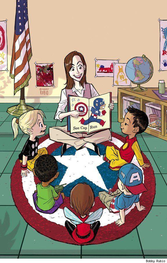 Captain America by Bobby Rubio: Bobby Rubio, Head Of Garlic, My Sons, Comic Books, Captain America, Incredible Hulk, Teacher, Kid, Superhero