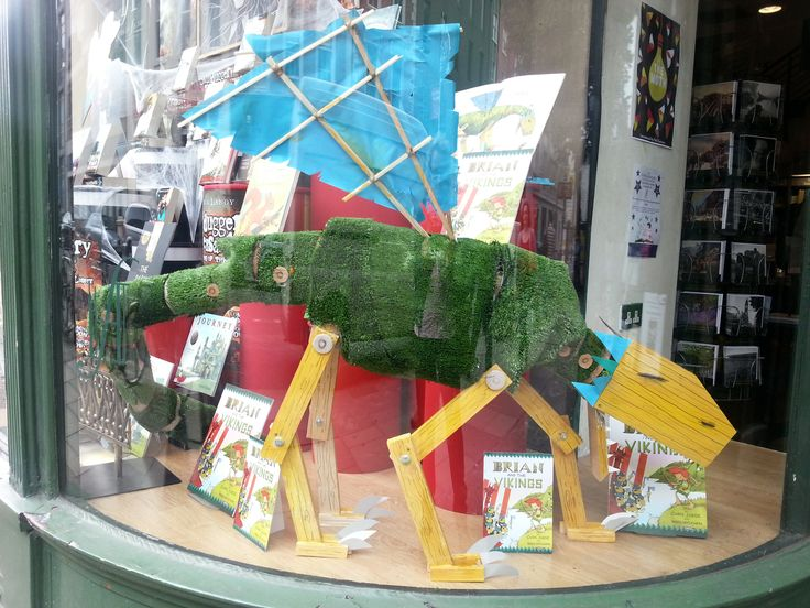 Dragons in the window of Hodges Figgis. Vikings beware!