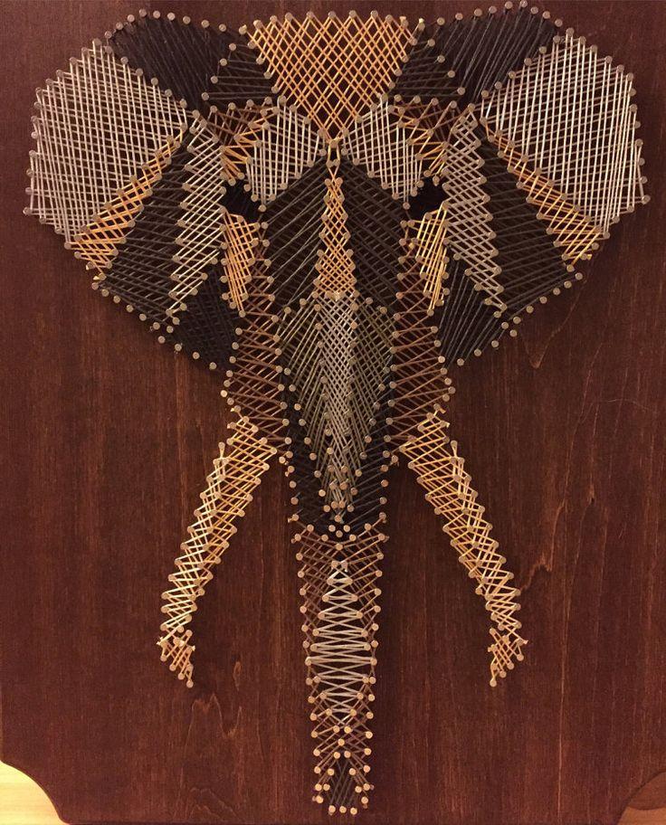 Elephant String Art by StringKits on Etsy