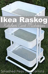 Ambitious DIYers all over the web have customized it with a couple coats of spray paint. | This Kitchen Cart Is The Only IKEA Item You Really Need