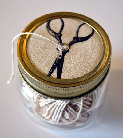 Kilner Jar of String by gillflury on Etsy