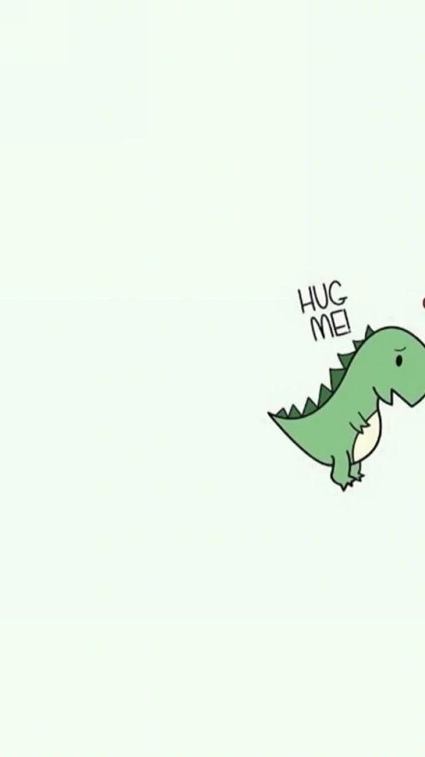 Up To No Good Quackery — Dinosaur pair wallpaper
