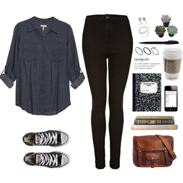 A fashion look from January 2015 featuring Joie blouses, Topshop jeans and Converse sneakers. Browse and shop related looks.