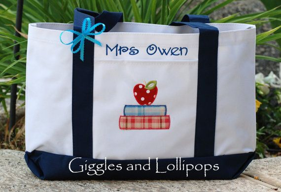 Hey, I found this really awesome Etsy listing at https://www.etsy.com/listing/130868385/personalized-teacher-tote-bag-great
