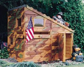 Outdoor play house for boys