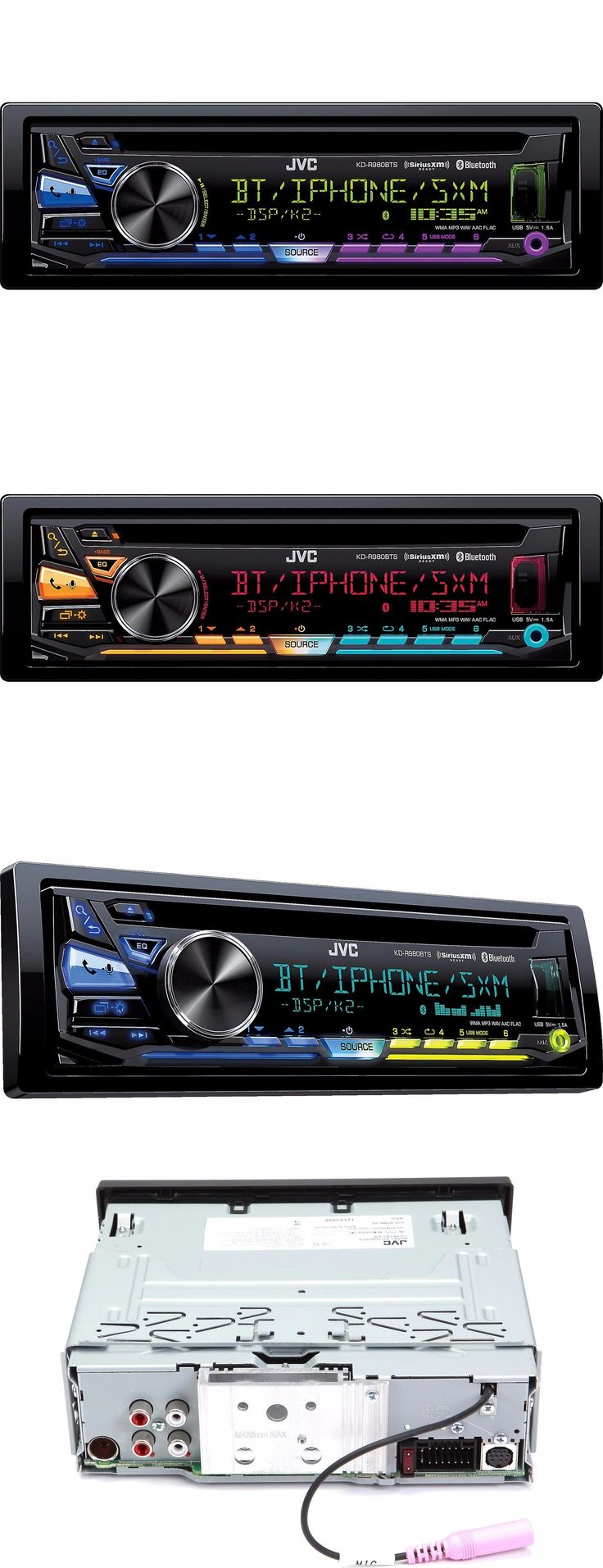 Vehicle Electronics And GPS: Jvc 1 Din Car Stereo Cd Player Receiver With Bluetooth Usb Aux Siriusxm Ready -> BUY IT NOW ONLY: $87.36 on eBay!