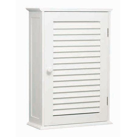 White Wood Wall Cabinet with One Inner Shelf - 1600900 at Victorian Plumbing UK