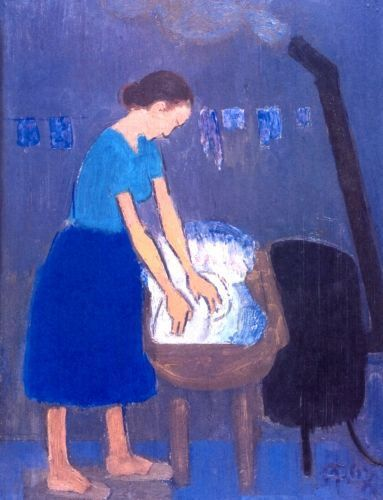 Alexandru Ciucurencu (1903-1977) - Femeie spălând (Woman Washing)