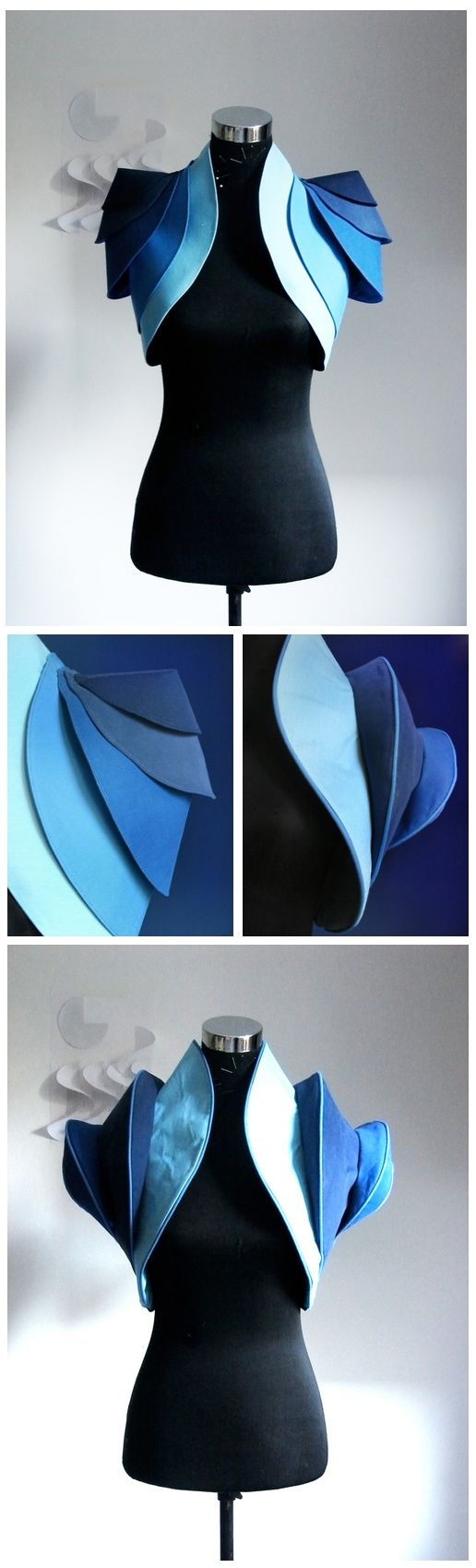 weird shoulder shapes?   Simple Shapes  Fashion Design & Costume Design by Alexa...
