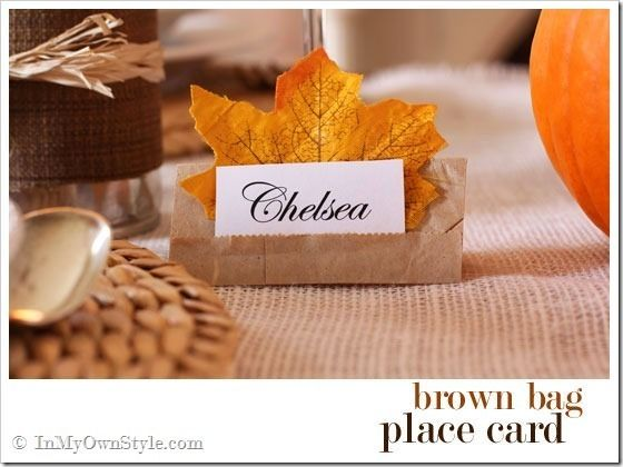 25 best ideas about Thanksgiving Place Cards
