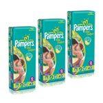 Leve com Economia 8% Desc. em 03 Pacotes Fralda Total Confort Mega 42 unidades Tamanho G - Pampers