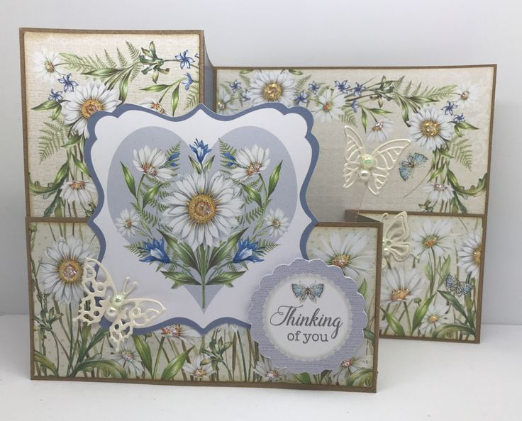 All it takes is a few simple folds to add the WOW factor to this fabulous Z-Fold card, made using the brand new Hobby House Daisy Dreams Collection.