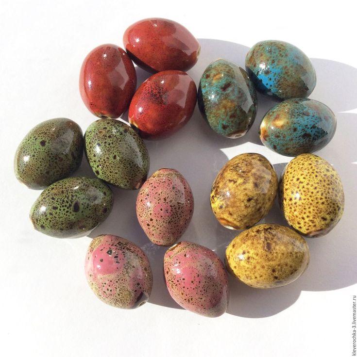 Купить Керамические бусины 27 мм 6 цветов челнок для украшений - ceramic porcelain beads