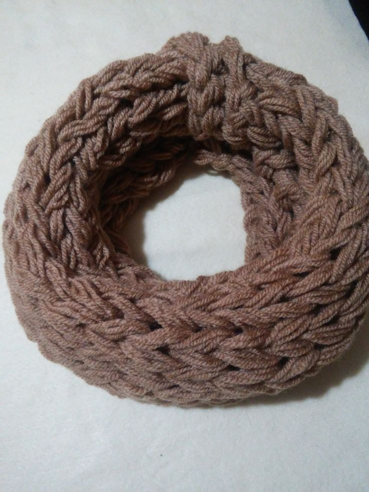 womens loop scarf  winter scarf light brown by Mmancrafts on Etsy