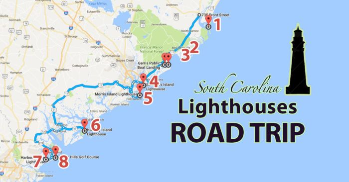 The Lighthouse Road Trip On The South Carolina Coast That's Dreamily Beautiful