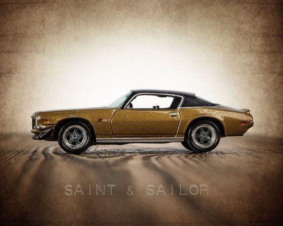 Vintage Muscle Car Photo Print ,Black and Gold 71 Z28 Camaro, Boys Wall Art, Car Prints, Boys Wall Art, Boys Room Decor