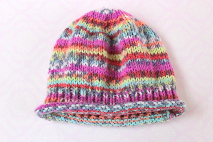 Baby Hat, Fairisle Baby Hat, Colourful Baby Hat, Cute Baby Hat, Pretty Baby Hat, Baby Girl Hat, Baby Xmas Gift,Hand Knit Hat,Stocking Filler by Pinknitting on Etsy