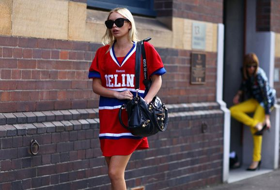 celine sydney 1 How To Wear a Sports Jersey Like a Street Style Star