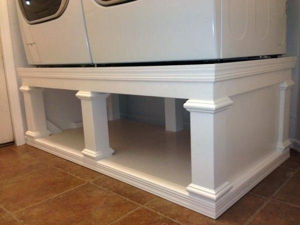 Build Washer Dryer Pedestal Washer Dryer Pedestal Projects Diy