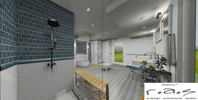 Santa Barbara Montecito dream bath, transitional to