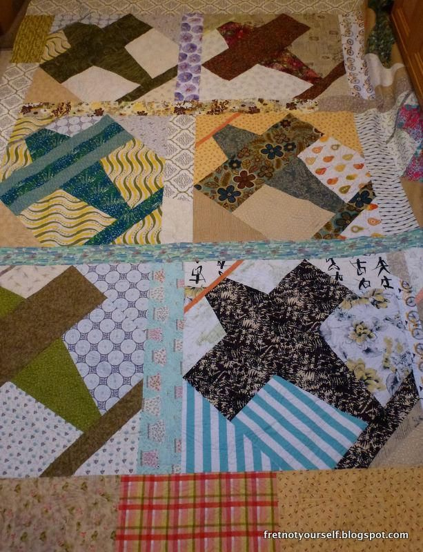 Propellers and Planes Quilt Back. A squadron of scrappy planes.