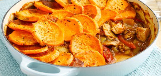 Sweet Potato & Chicken Hotpot Recipe - Sainsburys.