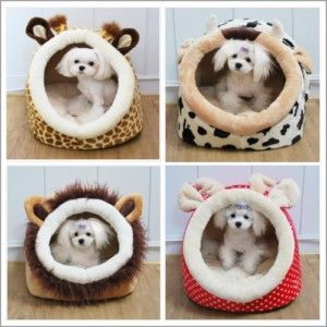 Indoor+Dog+House | Soft Collapsible Indoor Pet Dog Cat Bed House Small