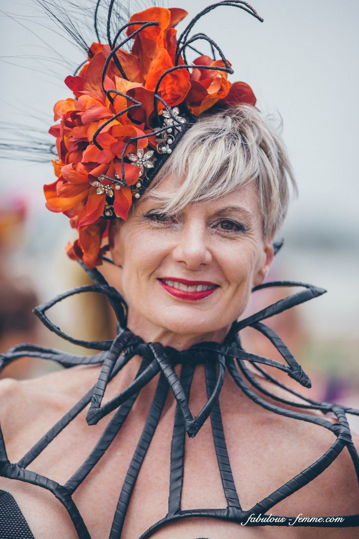 Brenda Wilson from The House of Windsor wearing her own millinery creation
