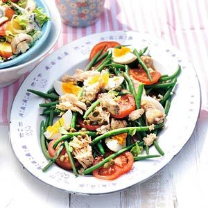Recept - Haricots verts met tomaat en zalm - Allerhande