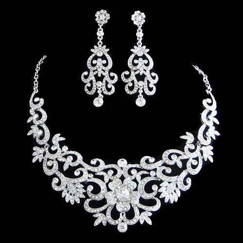 Vintage Inspired Swarovski Crystal Bridal Jewelry Set