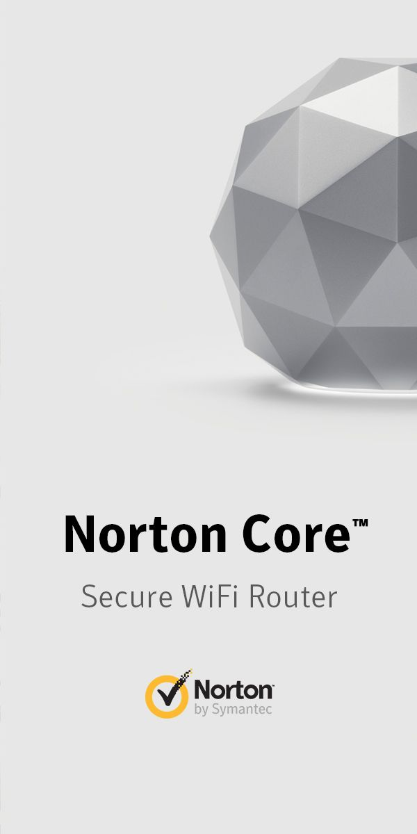 Norton Core was designed to be beautiful from every angle – and comes in two colors: Granite Gray and Titanium Gold. See them both at: Norton.com/Core. Norton Core, the secure WiFi router for your connected home.
