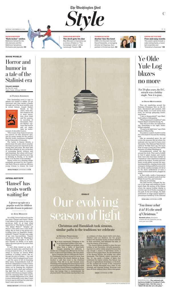 Washington Post print design by Chris Barber, via Behance / Newspaper / Editorial / Design