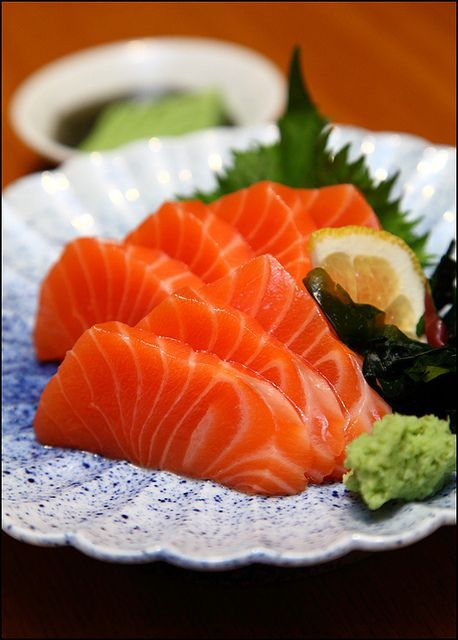 Travel Asian Food Japanese salmon-sashimi by vkeong,.