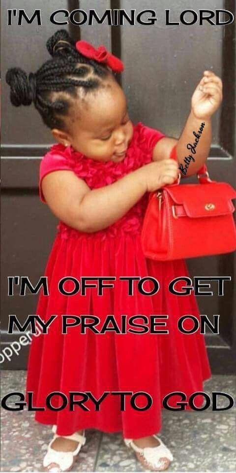 That's what I'm talkin bout! Sweet little Jesus girl:-) Mark 10:13-16