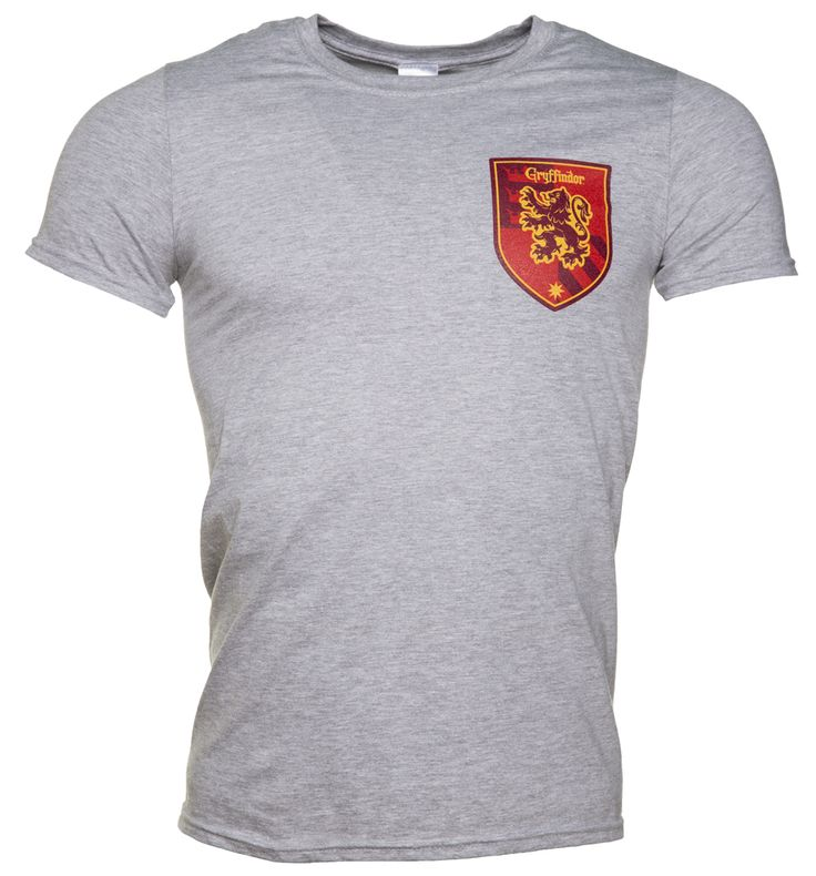 Mens Harry Potter Gryffindor Crest T-Shirt If you missed out on a place at Hogwarts in the house of Gryffindor, you can now imagine you are there in this awesome collegiate style tee with crest printed on the chest and back. http://www.MightGet.com/may-2017-1/mens-harry-potter-gryffindor-crest-t-shirt.asp