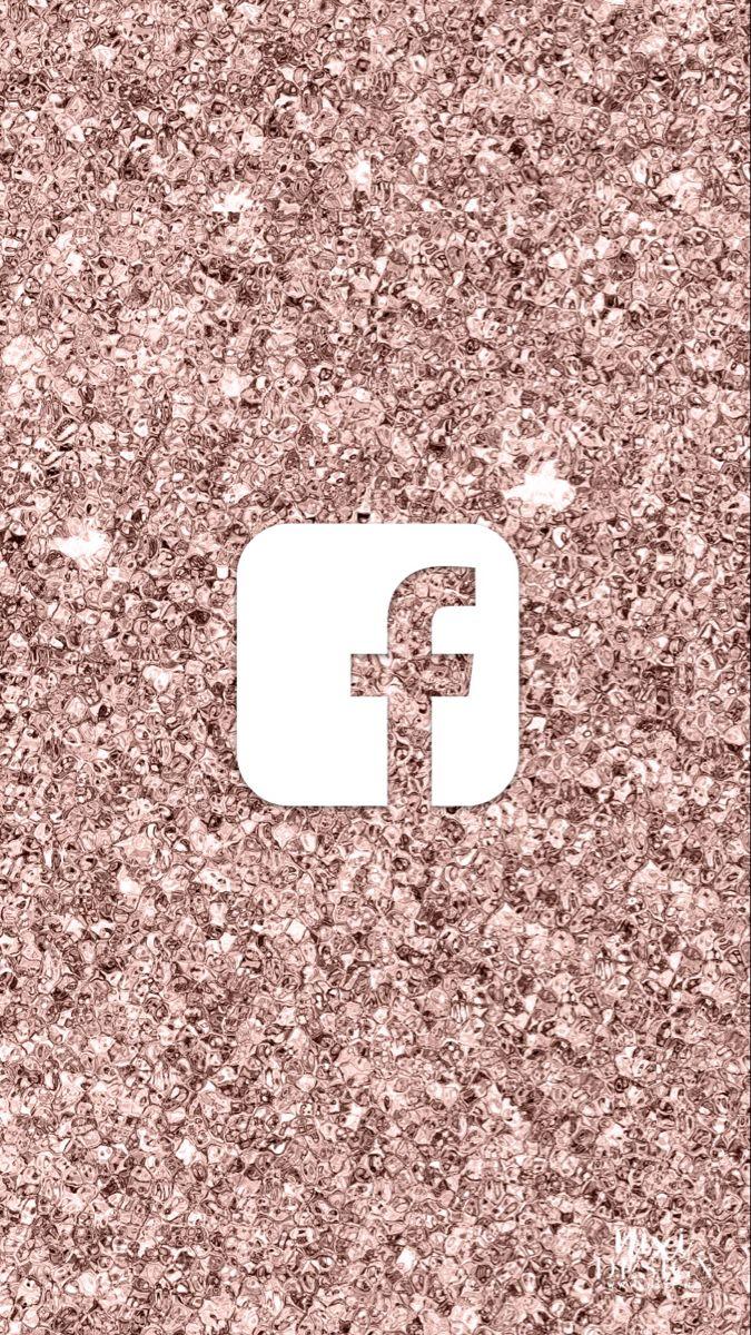 Rose Gold Sparkles Facebook Iphone Icon Ios App Iphone App Icon Design