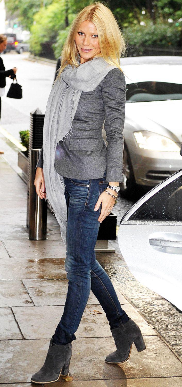 Gwyneth in Grey // great fall style So So So So Right. I lurf you gwennie!!