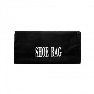 """WHOLESALE LOT OE 24 - SRP: $5.99 EA Shoes shouldn't always be packed next to clothes, but sometimes you have no choice. Use this Drawstring Travel Shoe Bag to keep muddy, dusty or dirty shoes away from clothes or other packed items. Ideal for commuters, travelers and executives, this shoe bag will prove its usefulness quickly. Bag measures approximately 16"""" x 12"""". Comes packaged in a poly bag with a header card."""