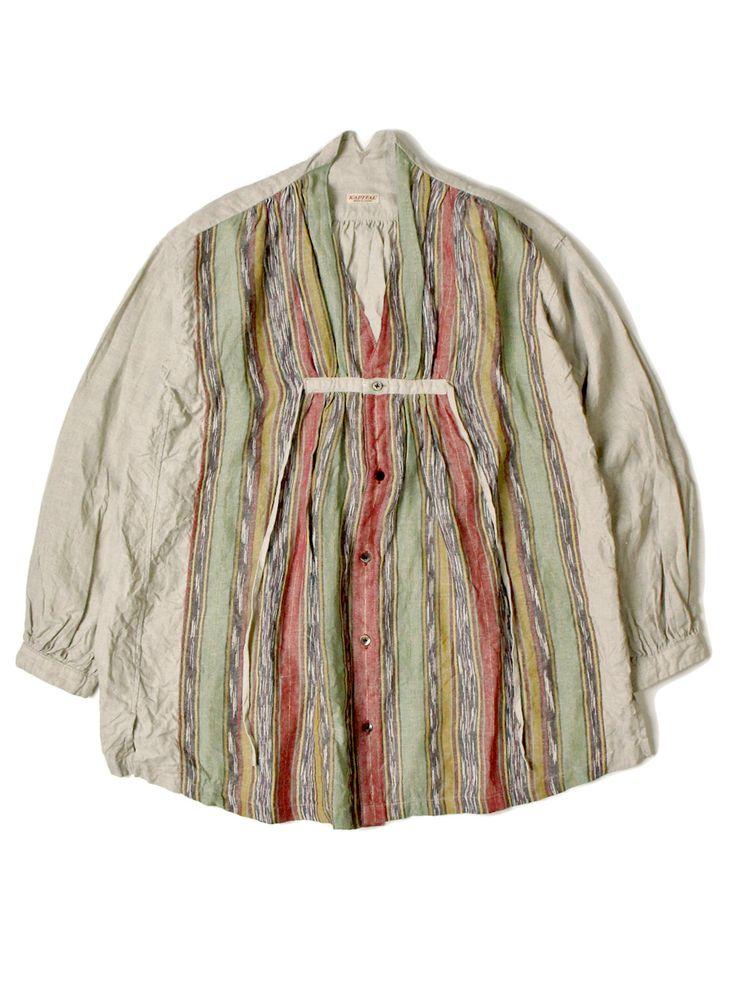 かすりネイティブ柄 2TONEクロッキーシャツ | KAPITAL - WEB SHOP