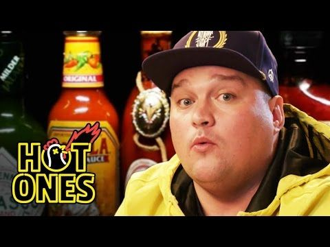 Charlie Sloth Makes His Mum Proud Eating Spicy Wings - http://blog.clairepeetz.com/charlie-sloth-makes-his-mum-proud-eating-spicy-wings/